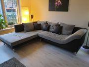 Couch grau schwarz
