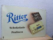altes Ritter Sport Emailschild 80x120cm