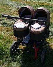 Zwillingskinderwagen TFK TWIN trail fossil