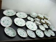 Meissen 65-teilig Service Indisch Grün