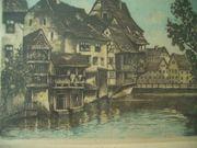 Orginal Radierung von Nürnberg