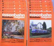Eisenbahn Magazin Modellbahn Januar-Dezember 1989