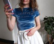 Süßes blaues T-Shirt Samt Gr