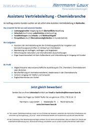 Assistenz Vertriebsleitung - Chemiebranche