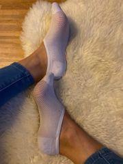 Weiße Sneakersocken