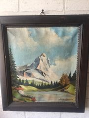 altes org Öl Gemälde