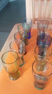 10 Coca Cola Gläser viele