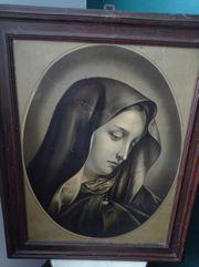 Antikes Heiligenbild Marienbild