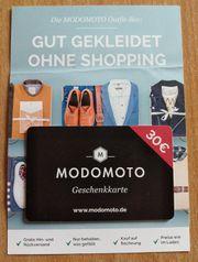 Geschenkkarte Gutschein MODOMOTO 30 EUR