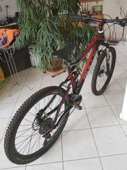 Mountainbike Fully schwarzrot - Bulls Wild