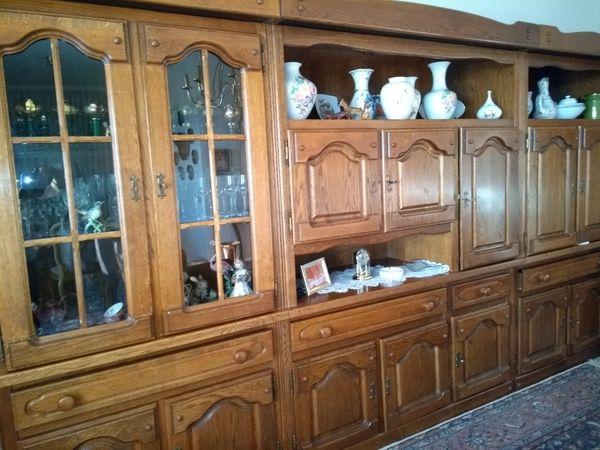 Wohnzimmerschrank antik Vollholz