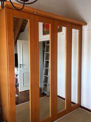 Kleiderschrank mit Spiegeltüren 2 Meter