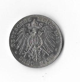 Münzen - 3 Mark 1911 Silber
