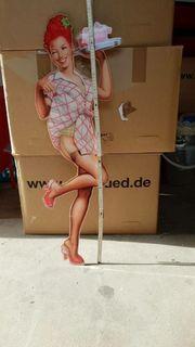 Plexiglas-Pin Up Figur 90 cm