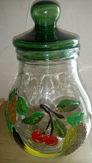 Rumtopf Glas farbig