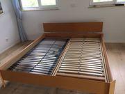 Doppelbett Buche mit 2 x