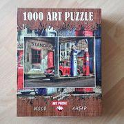Art Puzzle Nostalgische Tankstelle 1000