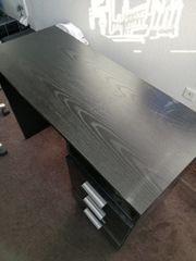 Schreibtisch schwarz 120x50x70cm