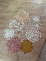 10 Handgefertigte Tischdecke Häkelmuster Baumwolle