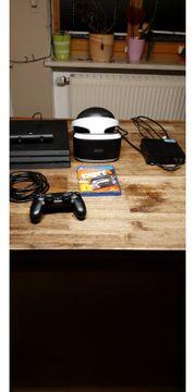 PS4 inkl VR-Brille und Zubehör