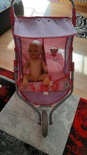 puppenwagen mit Puppen Baby born