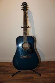 Blau Schwarze ARIA Western Gitarre