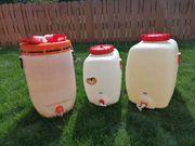 3 Kunststoff Mostfässer 2x 100l