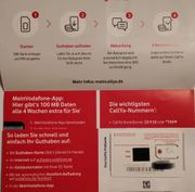 Vodafone D2 prepaid SIM-Karte Registriert