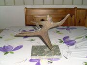 Verkaufe Bronzefigur mit Sockel