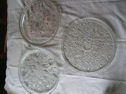 3 alte Tortenplatten Platten für