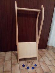 Schlitten-Schiebehilfe aus Holz
