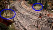 Ein paar neu Modelleisenbahn Fußgängerüberweg