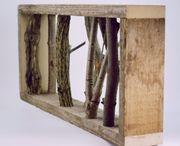 Naturholz-Wandgarderobe