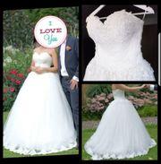 Brautkleid mit Spitze Größe 36