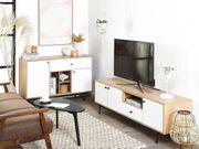 TV-Möbel heller Holzfarbton weiß ITACA neu