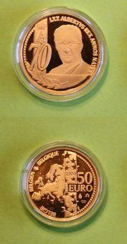 Goldmünze Belgien 50 EUR 70