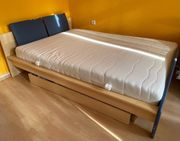 Bett mit Unterschrank und Lattenrost