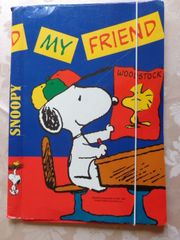 Kinderartikel Schulartikel Klappmappe mit Snoopy