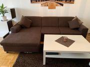 Sofa bzw Sitzgarnitur mit Hocker