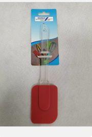 Teigschaber Silikon blau Rot 5