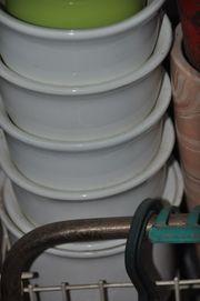 Keramik-Übertöpfe weiss ab 3 EUR