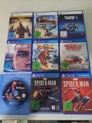 PS5 PS4 SPIELE KOMPLETT ODER