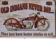 Blechschild retro Indian
