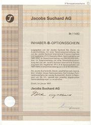 Orginal Inhaber-B-Optionsscheine - Jacobs Suchard AG