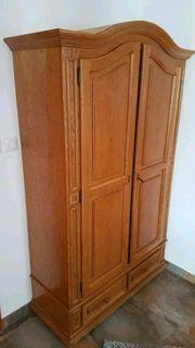 Kleiderschrank Jugendstil Holz mit Drehtüren