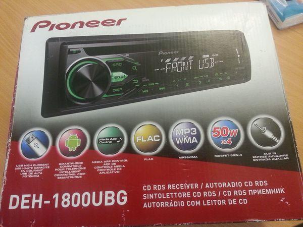 autoradio von pioneer deh-1800ubg