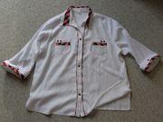 Bluse 3 4-Arm-Bluse weiß bunt