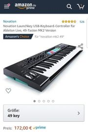 NOVATION MK2 49 Midi Keyboard
