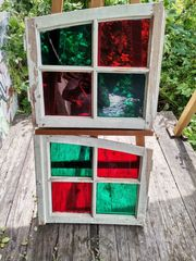 alte Sprossenfenster Rundbogen shabby chic