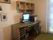 Schreibtischanlage für privates Büro oder